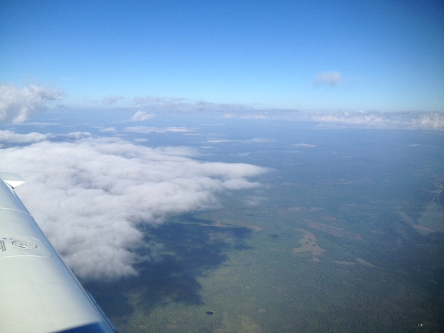 Clearing a front over South Georgia