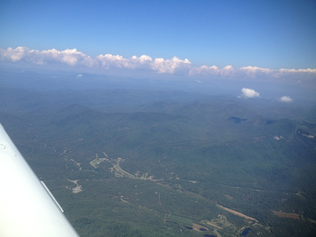 Approaching Asheville from Greenville. SC