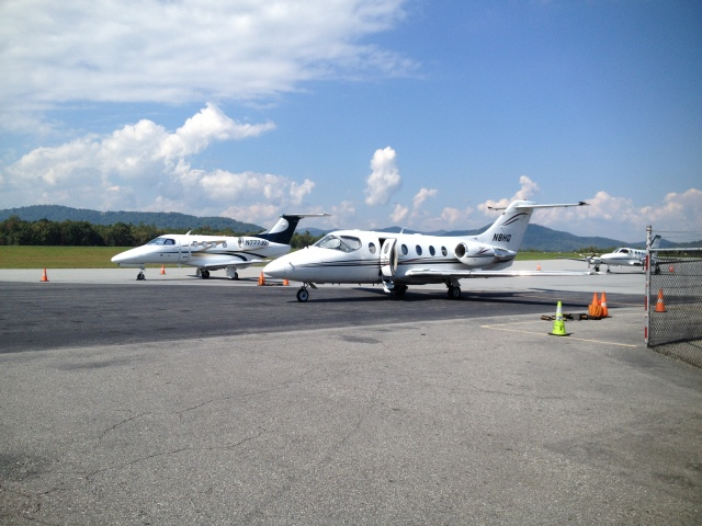 Busy GA Ramp at AVL